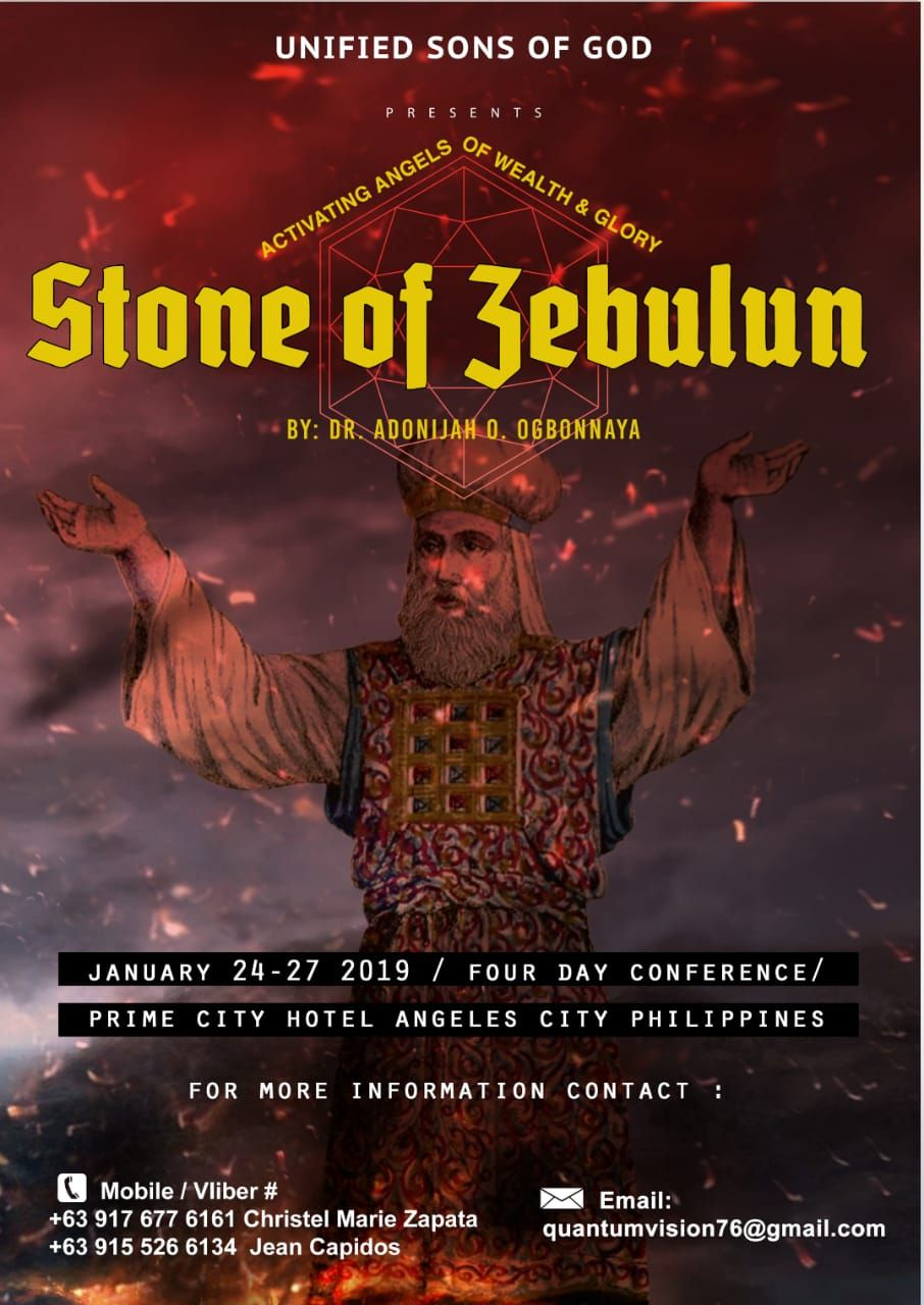 STONE OF ZEBULUN<span>JAN 24 -27, 2019 CONFERENCE IN THE PHILIPPINES</span>