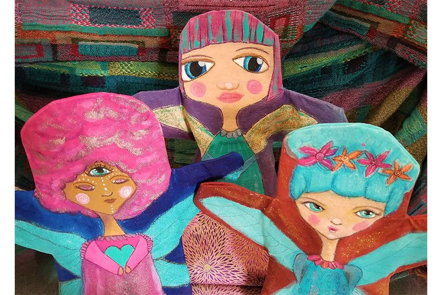 """""""Dolls by Bethany""""<span>Cotton and acrylic, 2018</span>"""