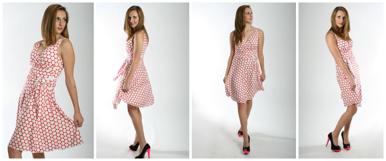 Sophia wrap dress pdf sewing pattern<span>Lined Faux wrap with double layer skirt, pdf sewing pattern and video by Frocks & Frolics</span>