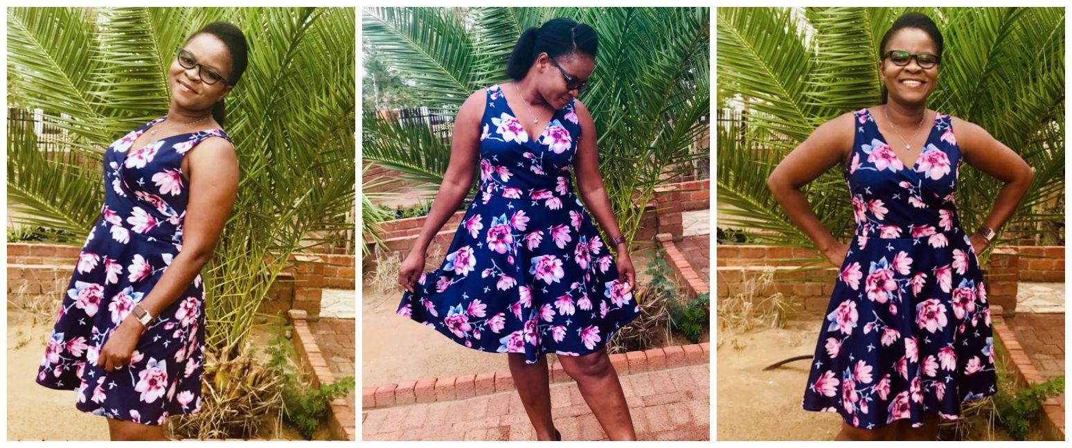 Sophia wrap dress pdf sewing pattern<span>Faux wrap in flower print, pdf sewing pattern and video by Frocks & Frolics</span>