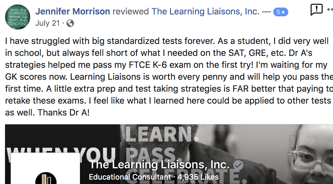 Pass your Florida Teacher Certification Exams:  General Knowledge Test, Subject Area Exam Elementary Education & Professional Education Test.  FTCE Video Courses, questions and content review.<span></span>